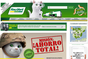 Site Internet Feu Vert - Chat Espagne