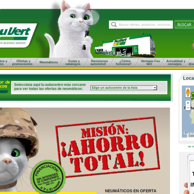 Site Internet de Feu Vert en Espagne