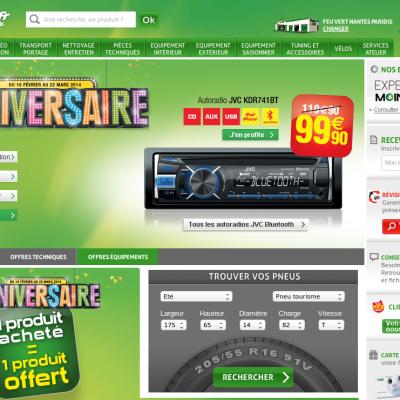 Site Internet de Feu Vert en France