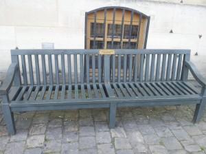 banc mécénat Kumho Tire Château de Versailles