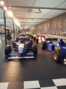 Les voitures de course de la cité de l'auto de Mulhouse