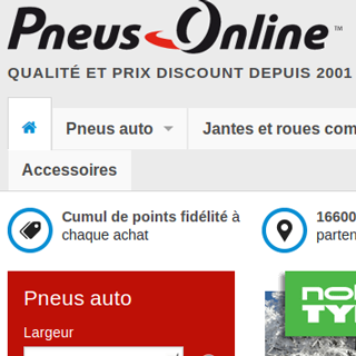 Refonte de l'ensemble des sites Internet de Pneus Online