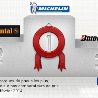 Baromètre des marques de pneus européen – Top 5 – Février 2014