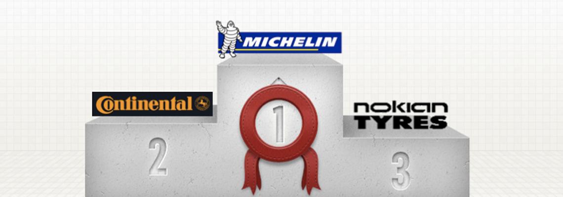 Baromètre des marques de pneus France – Top 5 – Novembre 2013